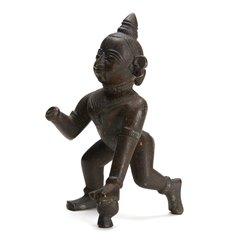 Antique Indian Bronze Krishna Figure 18/19th C.