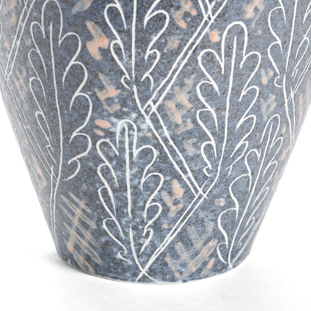 Vintage Van Der Straeten Studio Pottery Leaf Vase 1965 Dated 1965