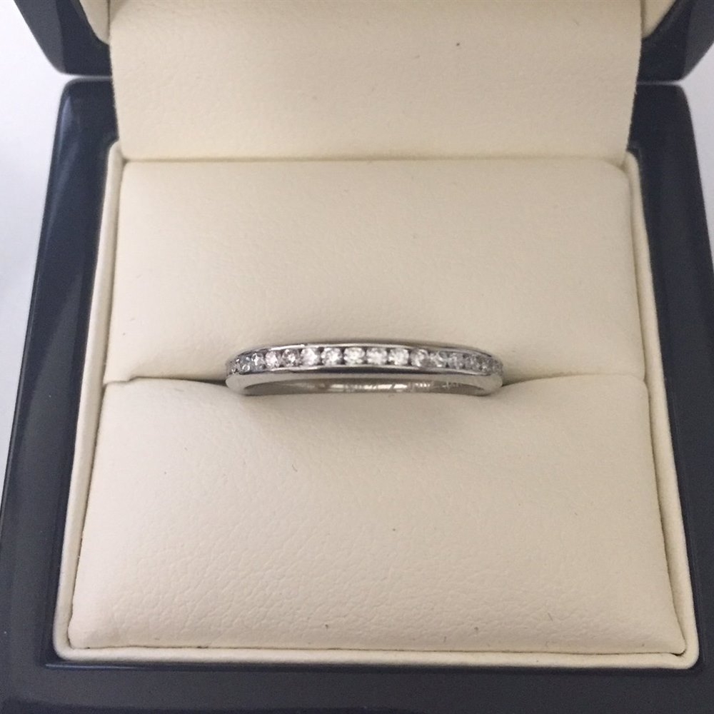 Platinum Tiffany Style Platinum Full Circle 0.52ct Diamond Channel Set Ring