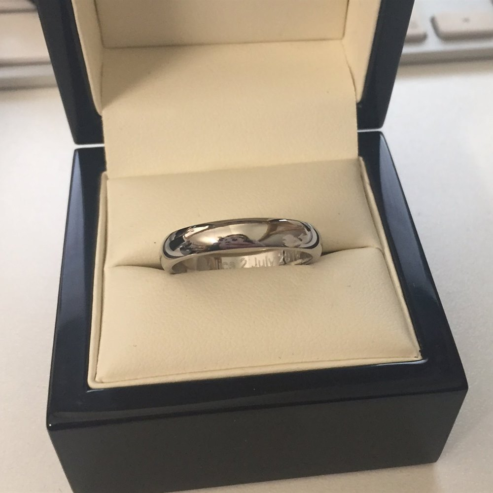 Palladium Palladium 4mm D Shape Wedding Band