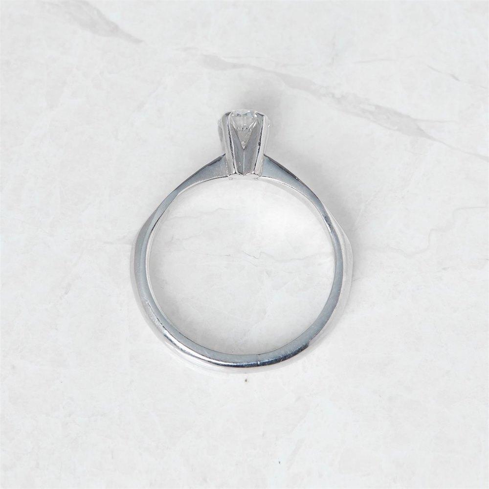 Diamond 18k White Gold Round Brilliant Cut 0.52ct Diamond Engagement Ring