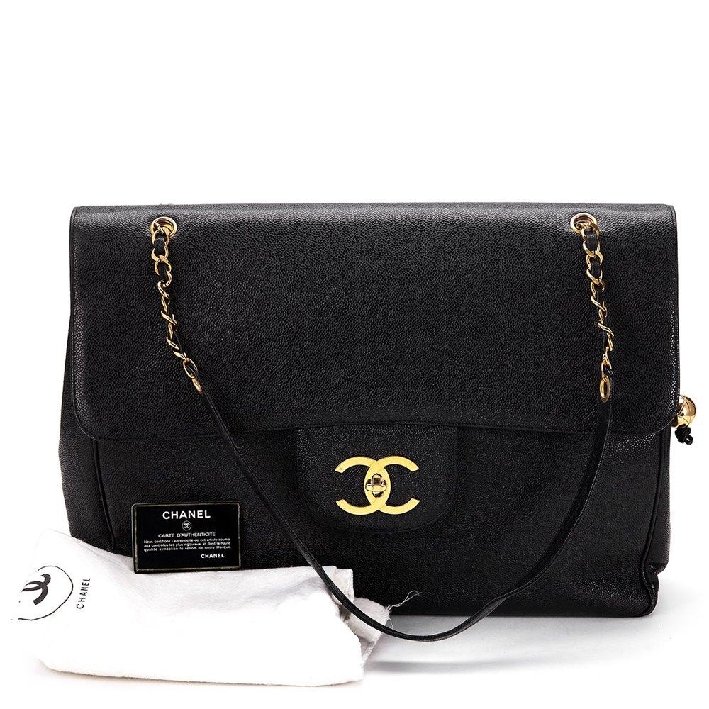 1690d12d6025 Chanel Jumbo XXL Flap Bag 1994 HB296 | Second Hand Handbags | Xupes