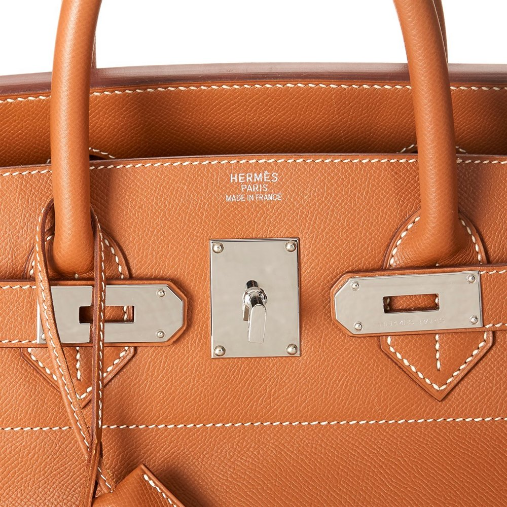 Hermès Gold Epsom Leather Birkin 40cm HAC