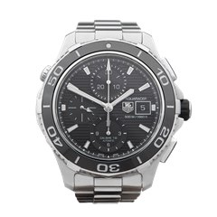 Tag Heuer Aquaracer Chronograph 43mm Stainless Steel - CAK2110.BA0833