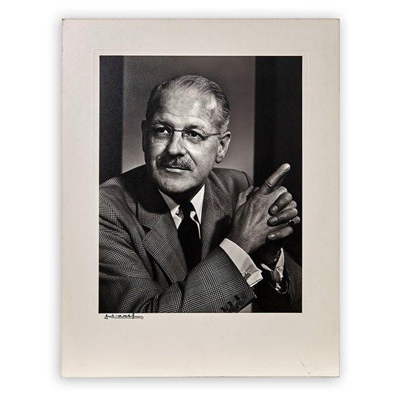 Yusuf Karsh Photographic Portrait Karl Pollak 1960's with mount