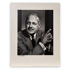Yusuf Karsh Photographic Portrait Karl Pollak 1960's with mount