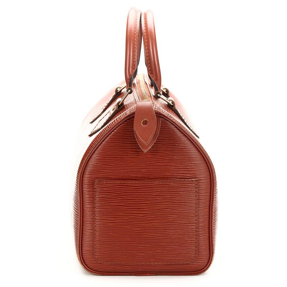2ee4c6a81eb1 Louis Vuitton Kenyan Fawn Brown Epi Leather Vintage Speedy 25