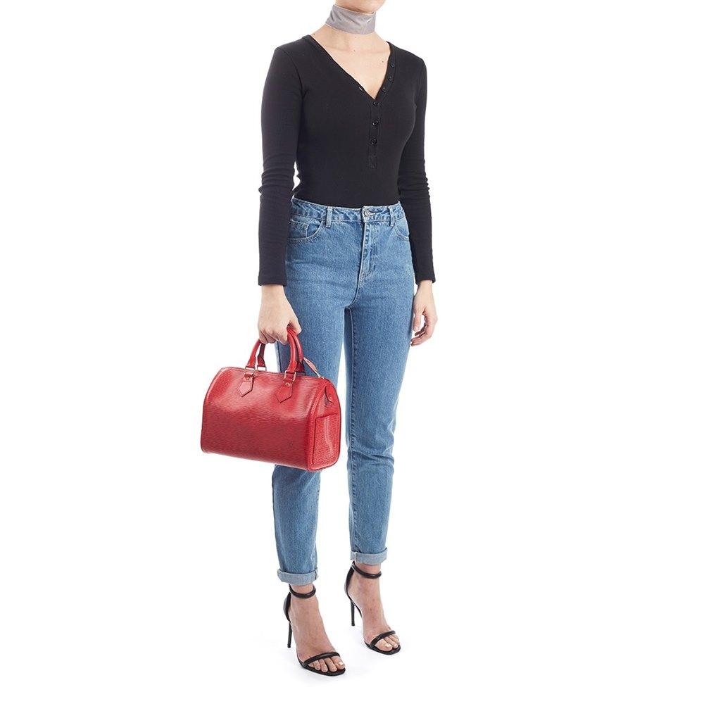 Louis Vuitton Red Epi Leather Vintage Speedy 25 743ab41f47414