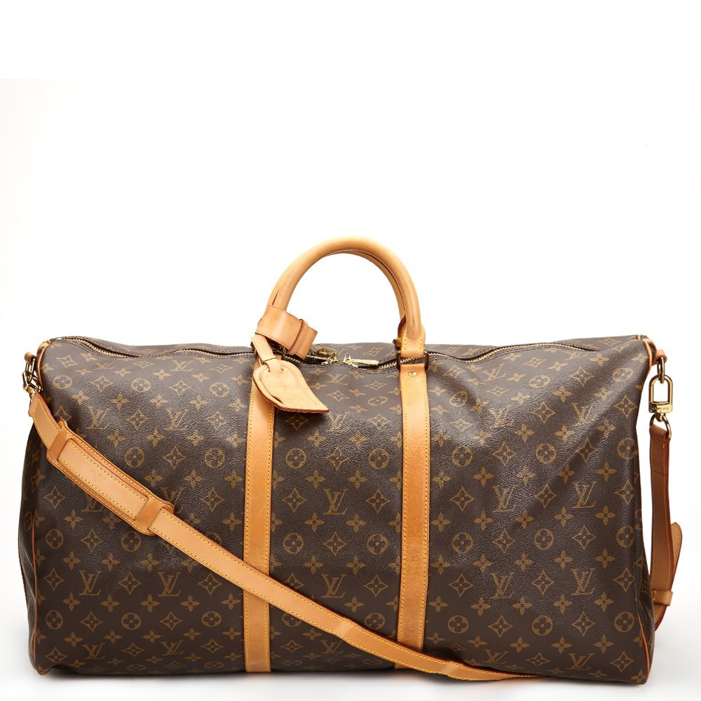 5e38c805 Brown Classic Monogram Vintage Keepall Bandouliere 60