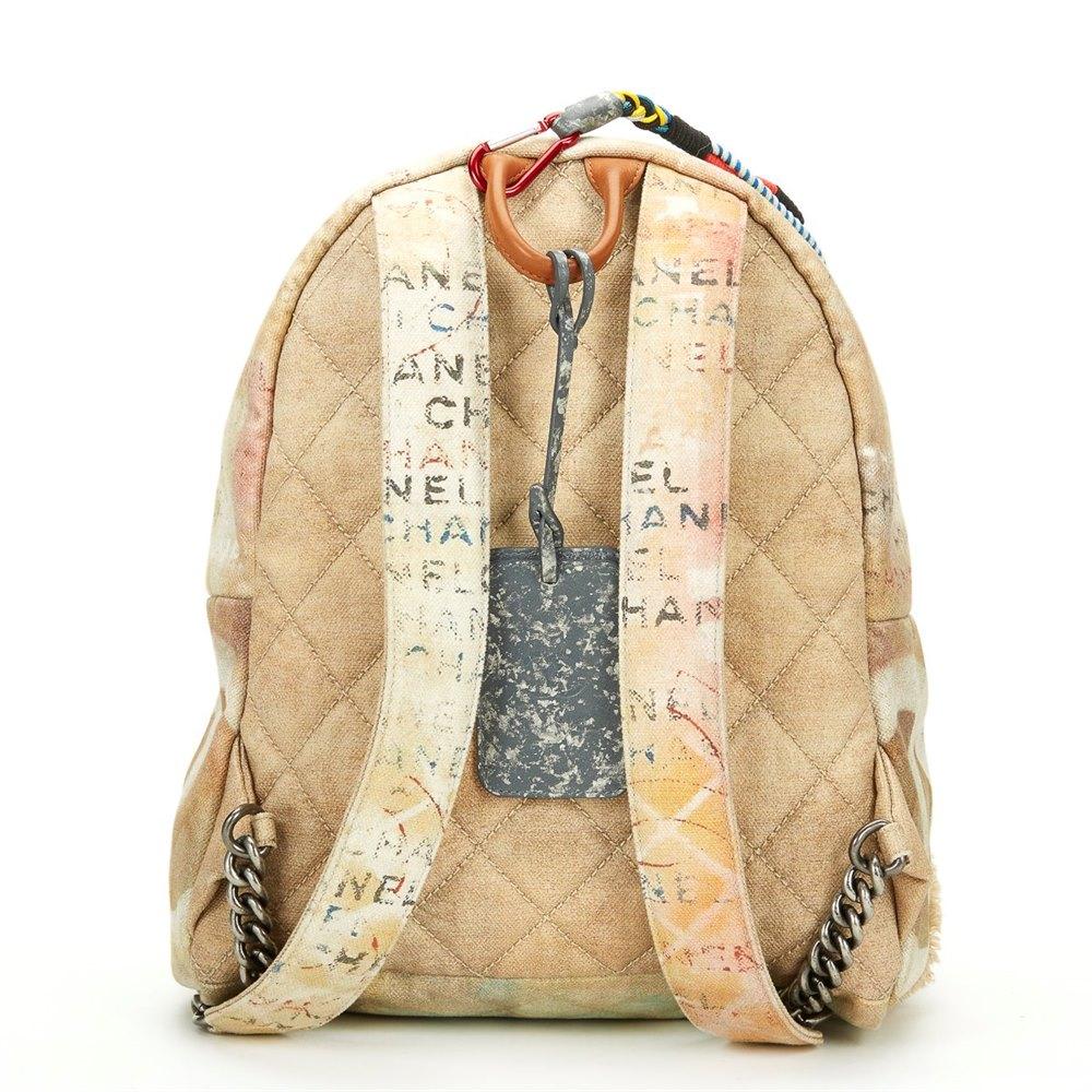 3e7a8d66145c Chanel Medium Graffiti Backpack 2014 HB327 | Second Hand Handbags