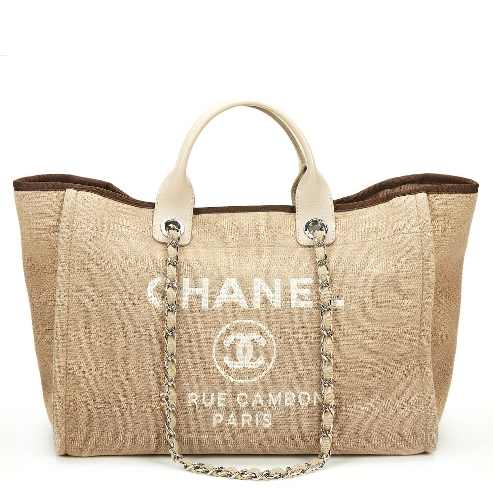 33117281f122f6 Chanel Large Deauville Tote 2013 HB328 | Second Hand Handbags