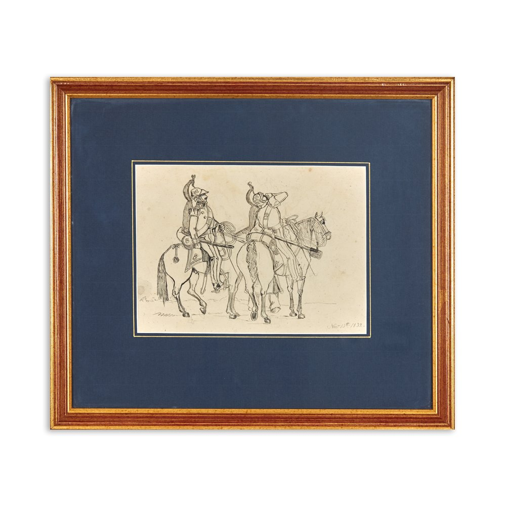 SOLDIERS ON HORSEBACK 1832 Dated November 13th 1832