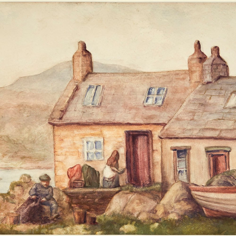 IRISH LANDSCAPE WATERCOLOUR, 20TH C. Believed to date from the mid-20th century