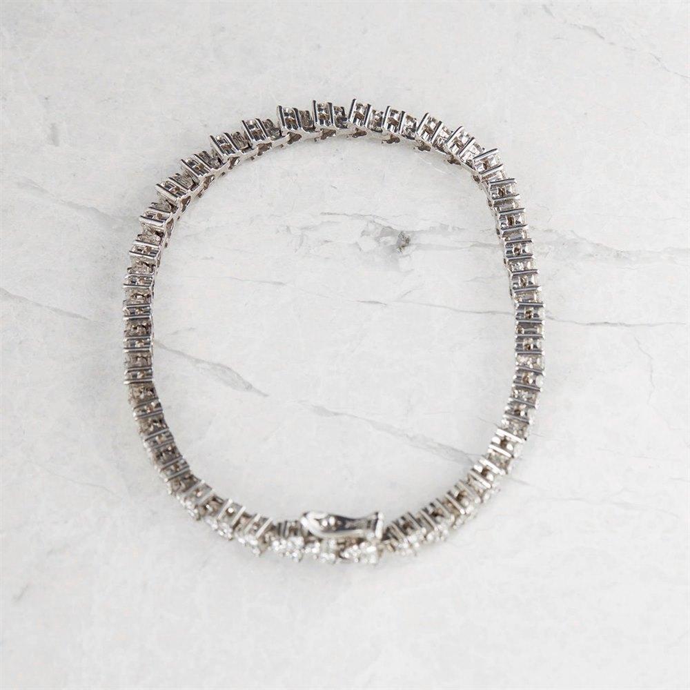 Unbranded 18k White Gold Round Brilliant Cut 3.51ct Diamond Bracelet