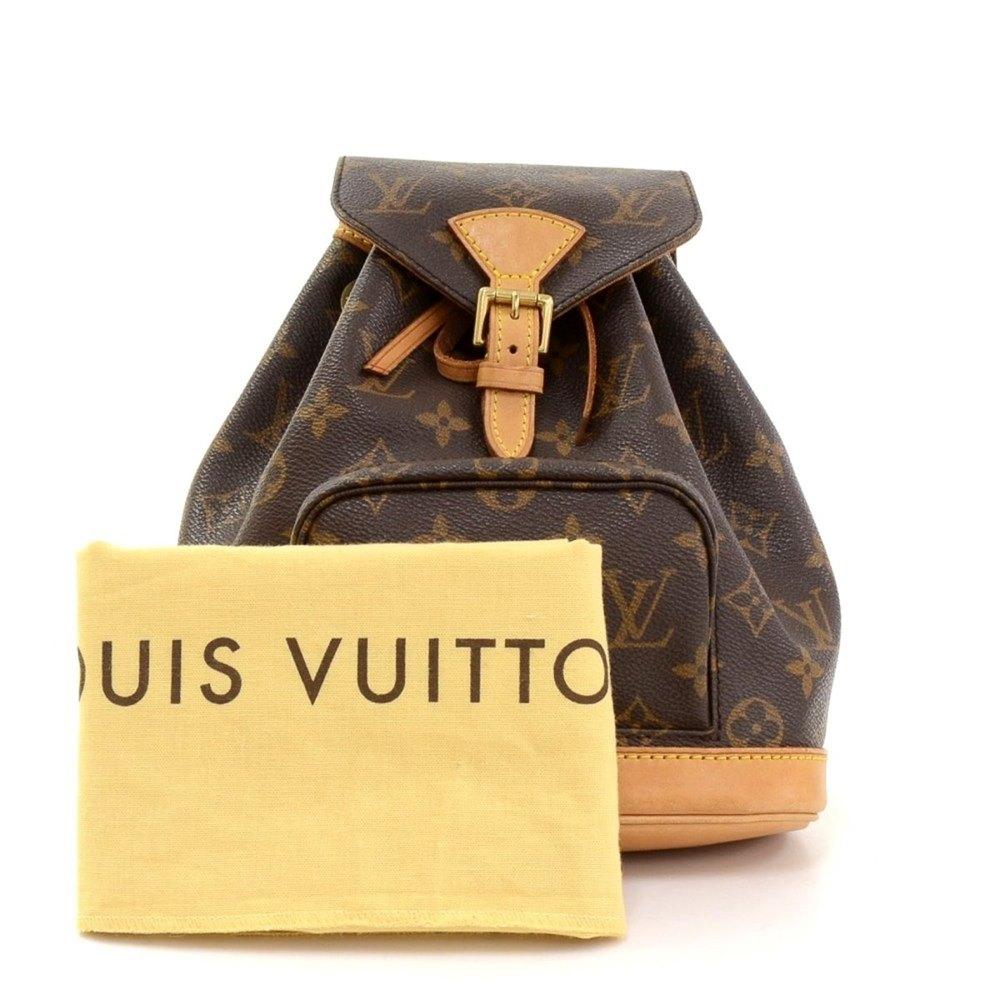 3e18c19915cc Louis Vuitton Brown Classic Monogram Canvas Mini Montsouris Backpack