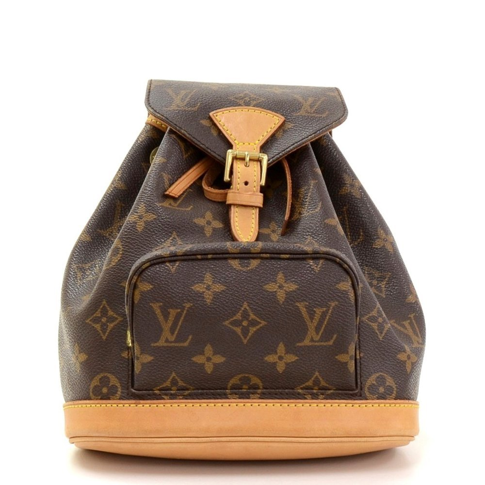 4049af2c4ec8 Louis Vuitton Brown Classic Monogram Canvas Mini Montsouris Backpack