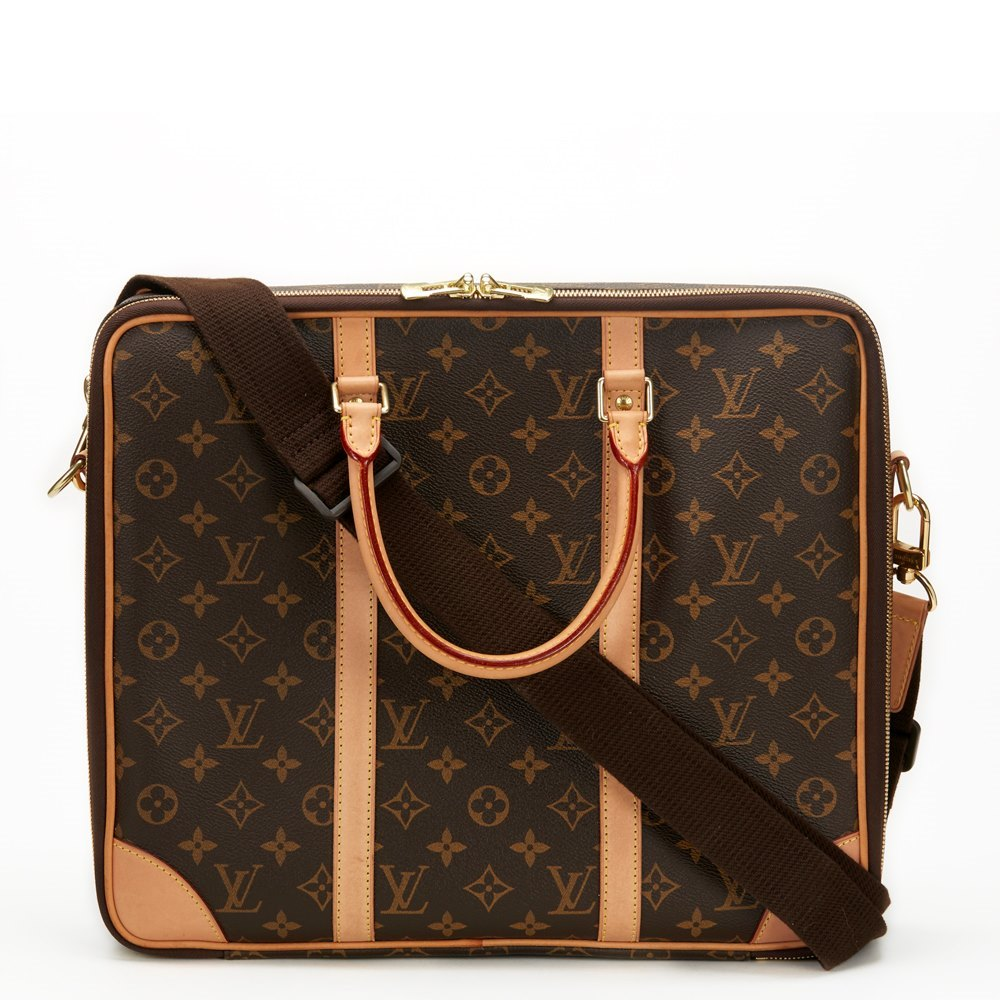 Louis Vuitton Brown Classic Monogram Canvas Cupertino Laptop Bag