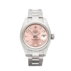 Rolex DateJust 26 Diamond 18k White Gold - 179179