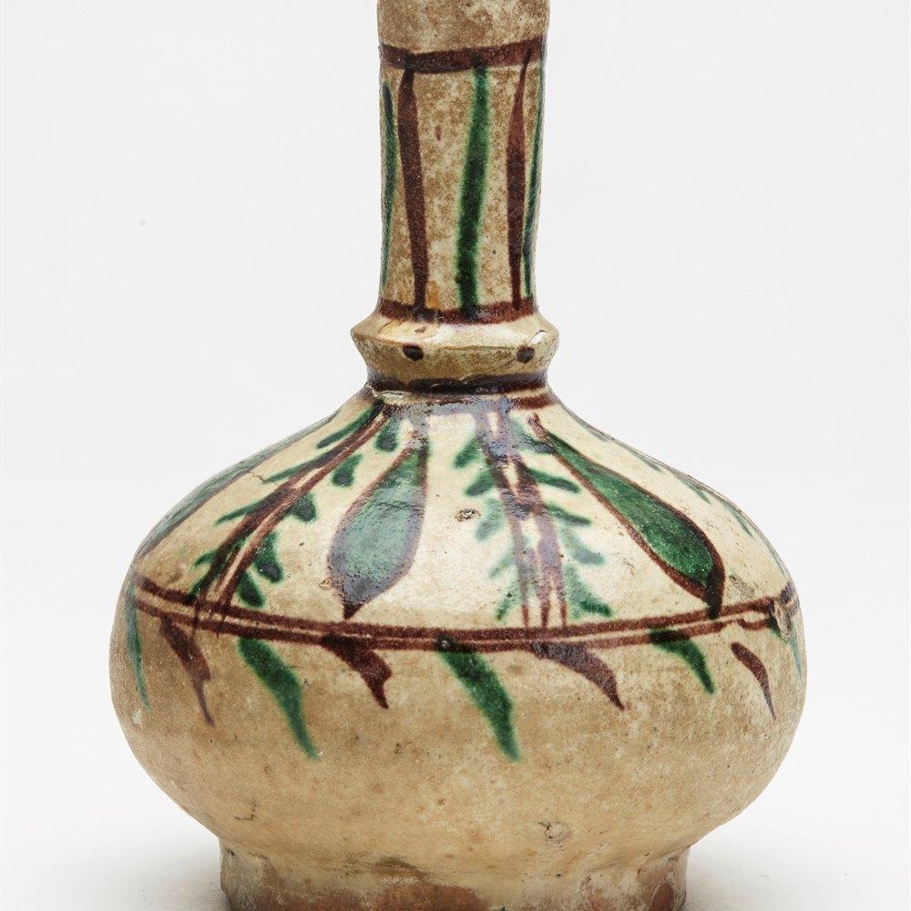 Bottle From Phds Wikramaratna Islamic Pottery Collection