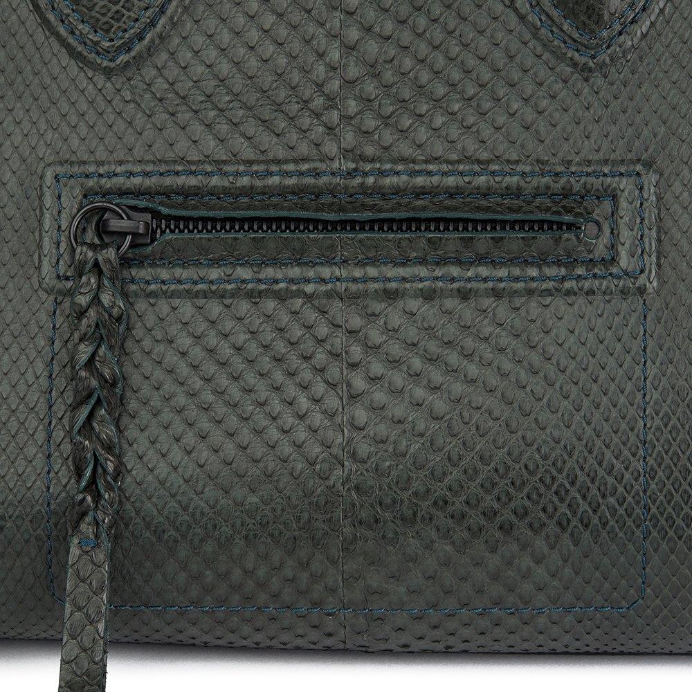 4081955e03 Céline Evergreen Python Leather Medium Phantom Luggage Tote
