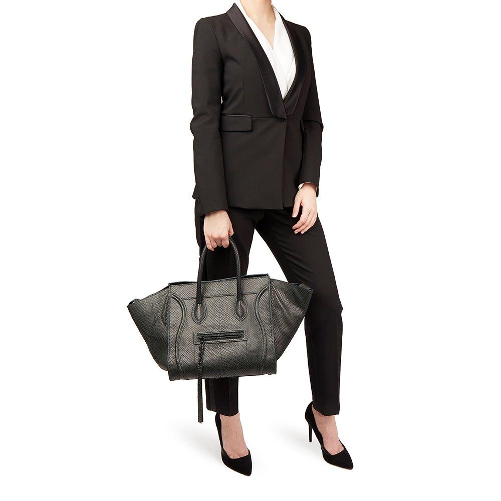 9d2f35000bc9 Céline Evergreen Python Leather Medium Phantom Luggage Tote