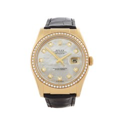 Rolex Datejust 36mm 18K Yellow Gold - 116188