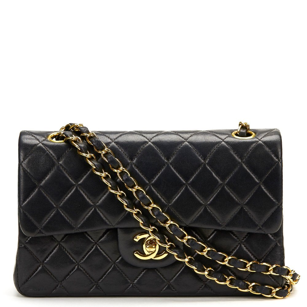 d984ba96dfa2 Chanel Black Quilted Lambskin Classic Small Double Flap Bag ...