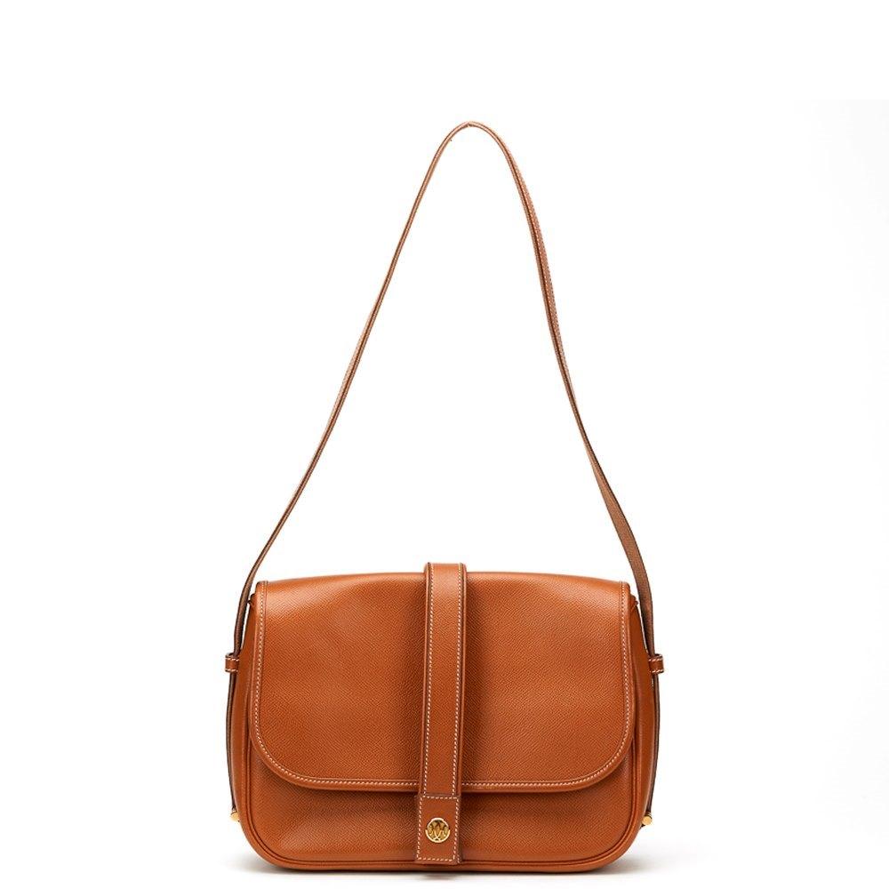 a62100f04f34 Hermès Gold Courchevel Leather Vintage Noumea
