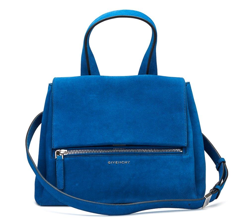 d85c4a6efbf7 GIVENCHY BLUE AZURE SUEDE PANDORA PURE HB501