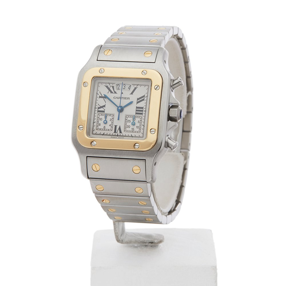 xl product watches steel santos cartier watch stainless mens