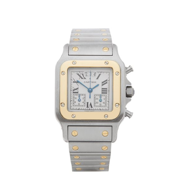 Cartier Santos Galbee Chronograph Stainless Steel & Yellow Gold - 2425 or W20042C4