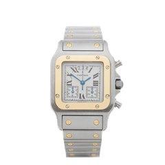 Cartier Santos de Cartier Galbee Chronograph Stainless Steel & Yellow Gold - 2425 or W20042C4