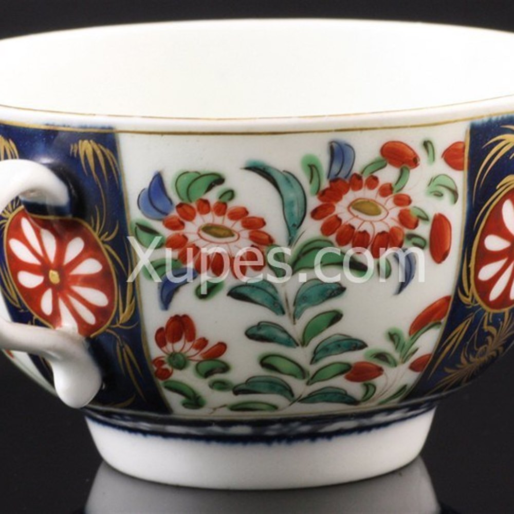 Worcester Exceptional Worcester Kakiemon Cup & Saucer C.1770