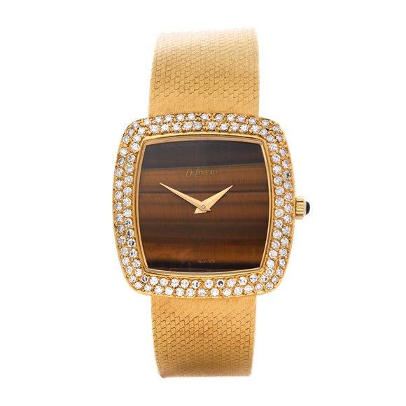 Delaneau Vintage Tiger-Eye Diamond 18K Yellow Gold - N/A