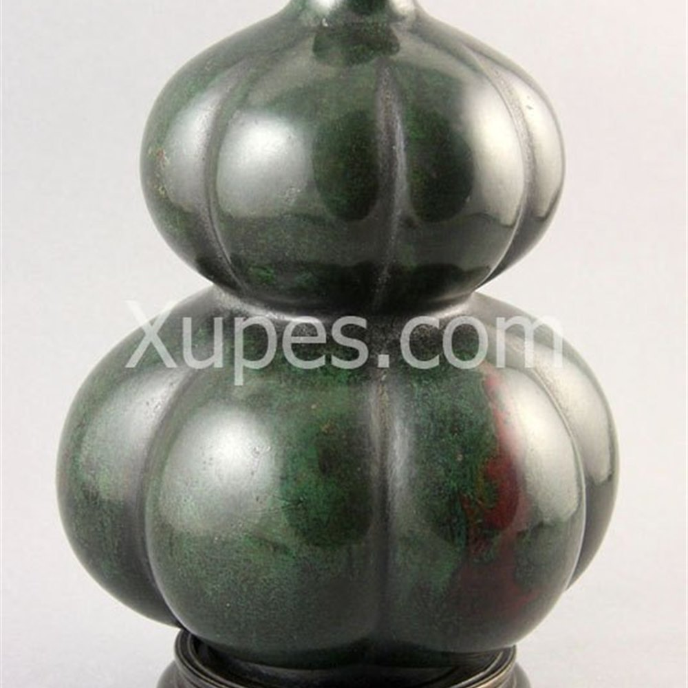 Chinese Bronze Double Gourd Vase 19th Century