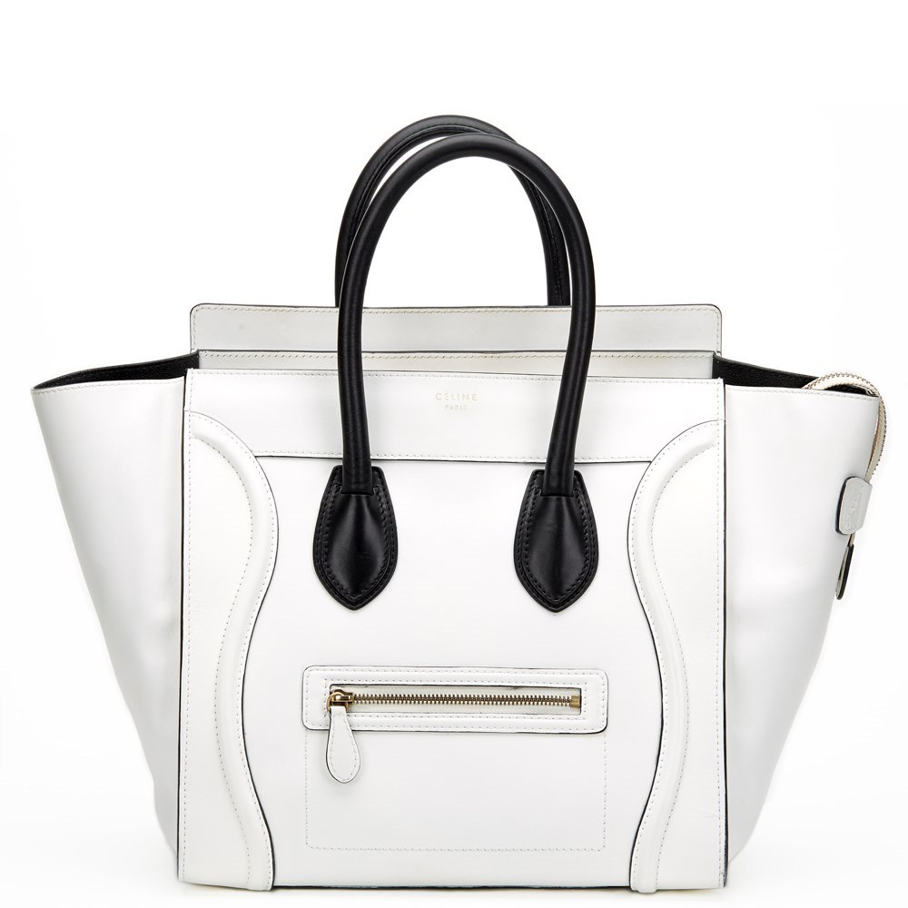 ebd49f8b14 Celine Mini Luggage Tote Black And White ✓ Handbag Collections