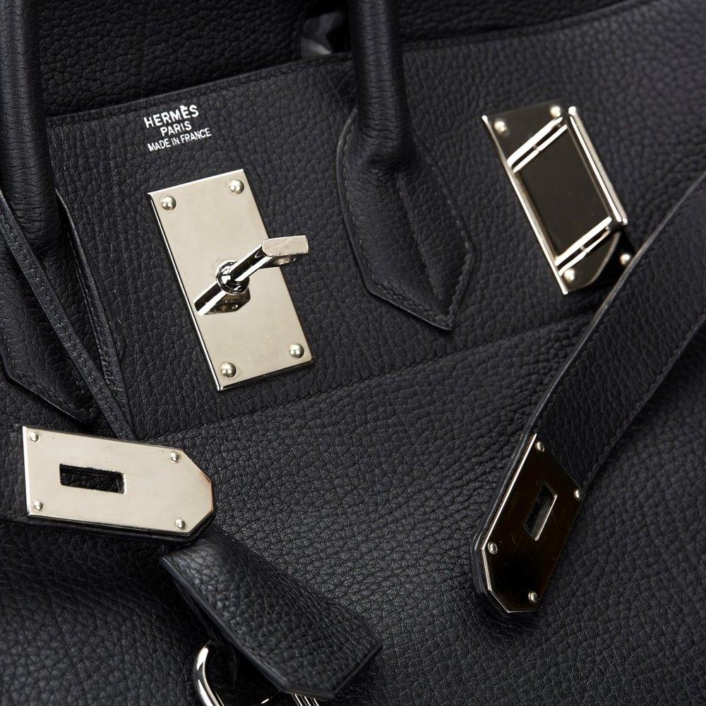 6ebafe66a870 ... order hermès black fjord leather birkin 40cm hac 70d6c 9f13d