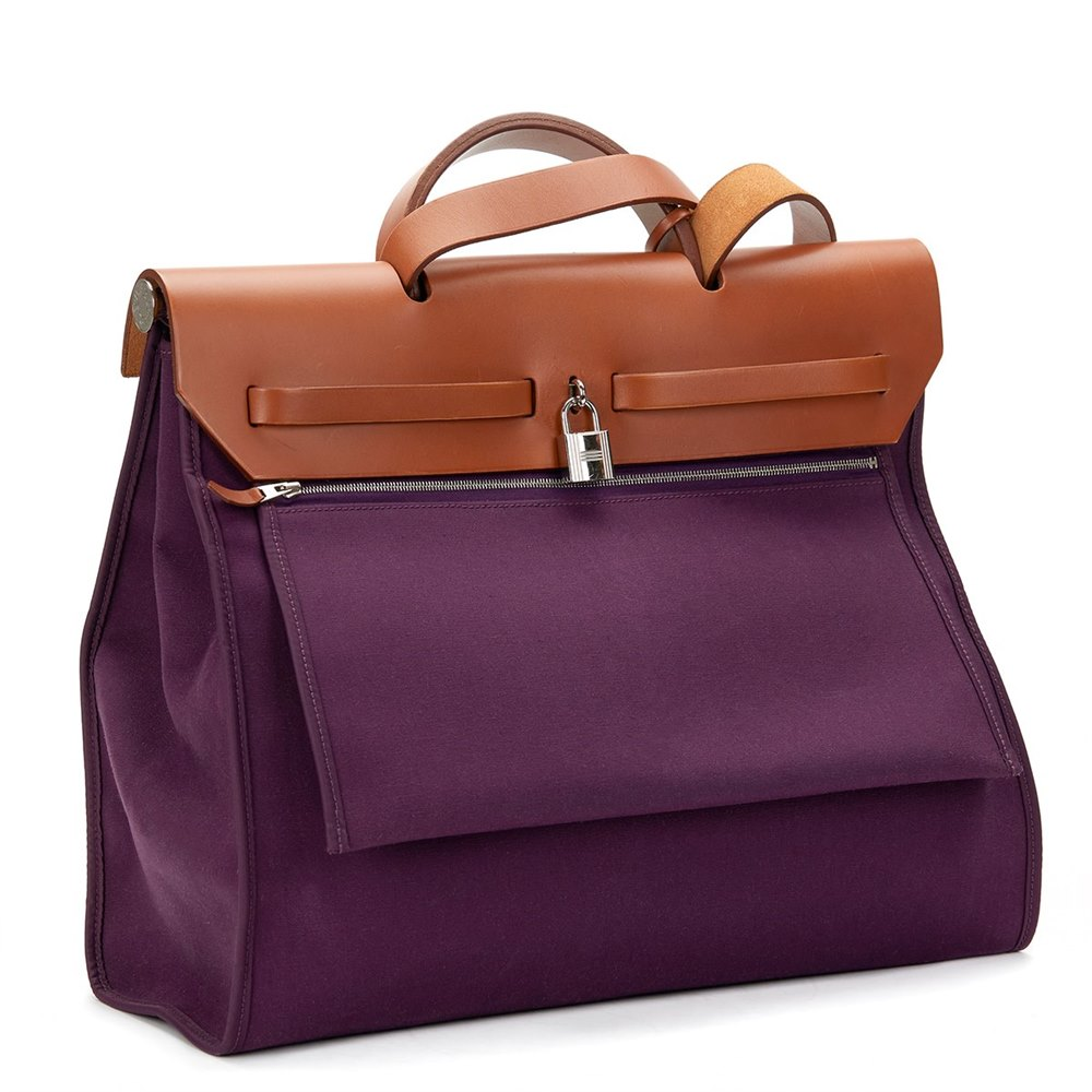 1fd2c9df0 ... uk hermès natural leather cassis canvas herbag zip e74b9 0f05e ...