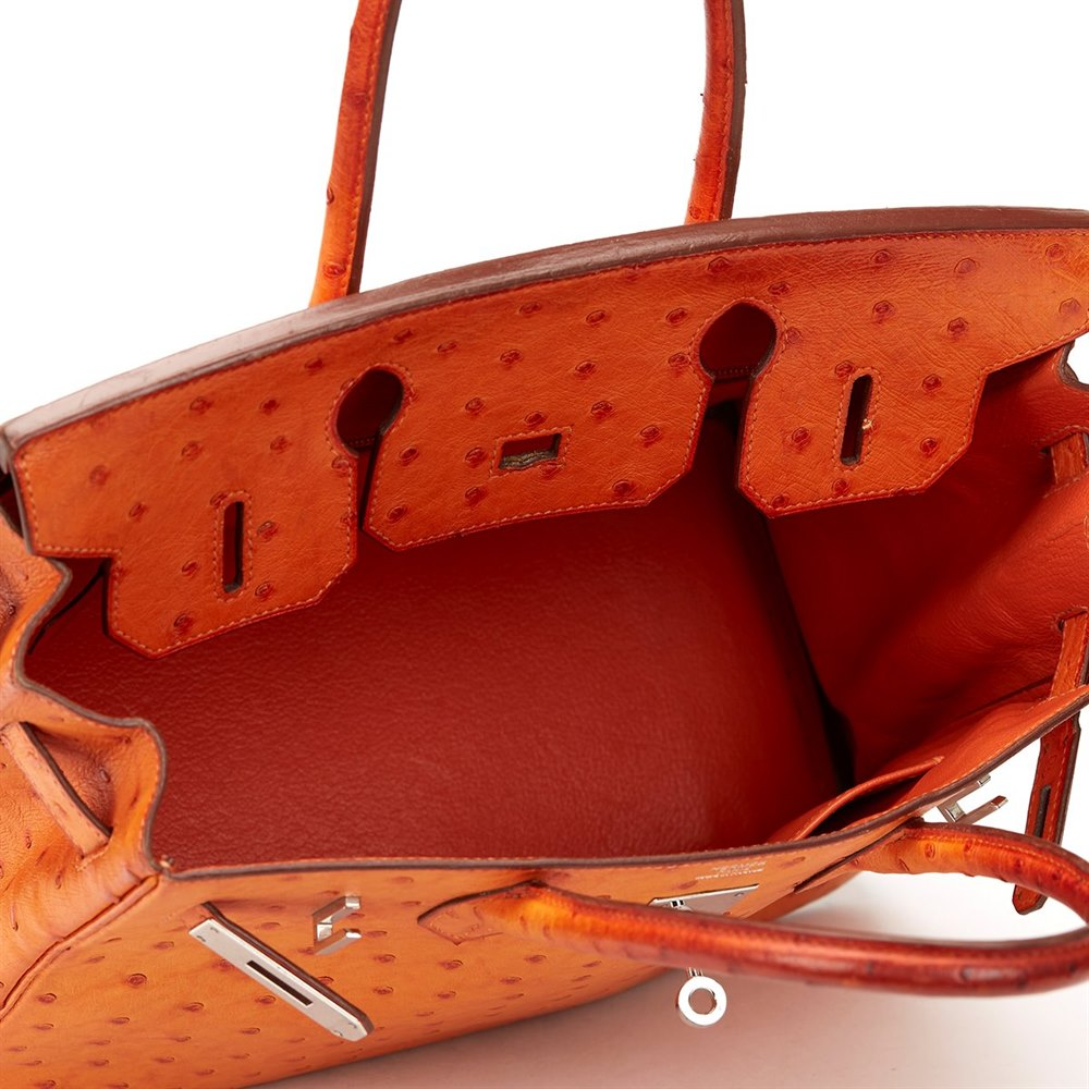 946a3c4c861 Hermès Orange Ostrich Leather Birkin 30cm