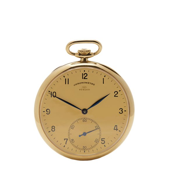 IWC Vintage Turler Pocket Watch 9K Yellow Gold - N/A