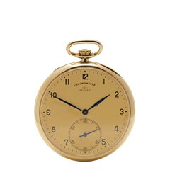 IWC Vintage Turler Pocket Watch 45mm 18K Yellow Gold
