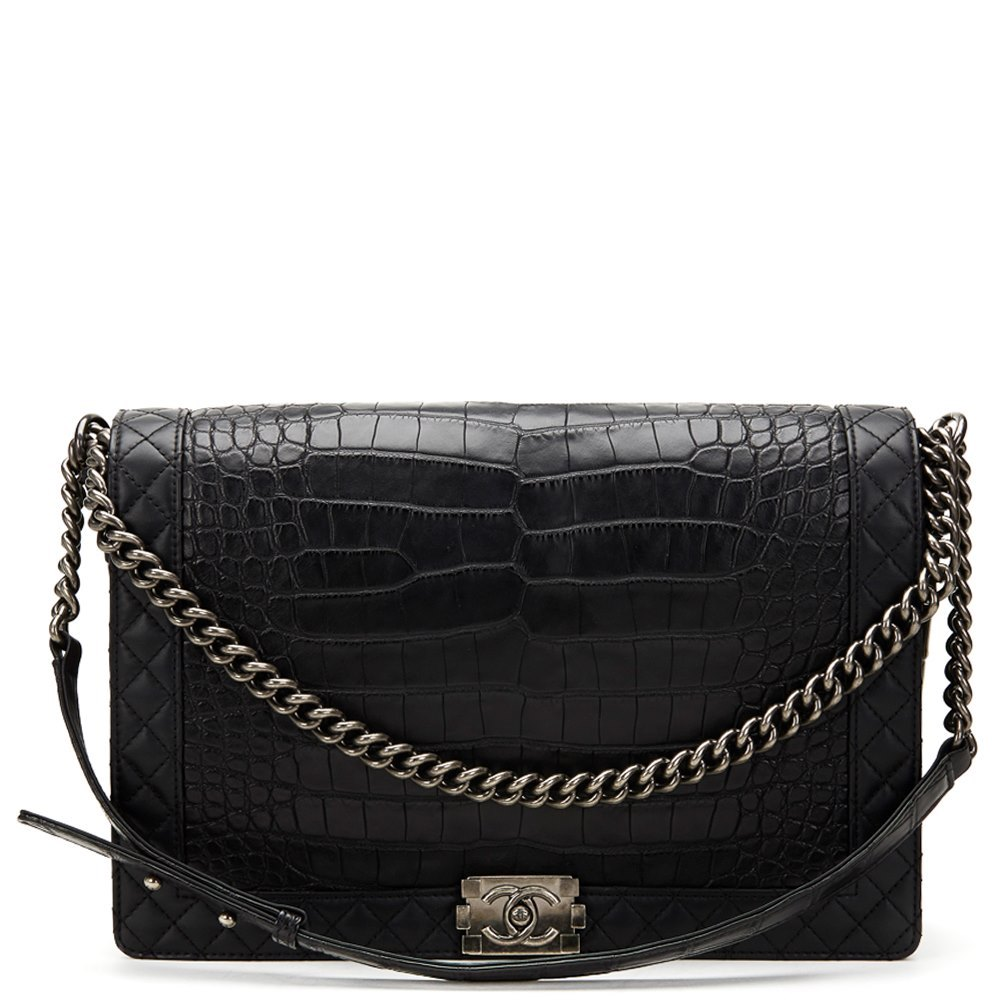 509afc1c68b8 Chanel Large Le Boy 2013 HB563 | Second Hand Handbags | Xupes