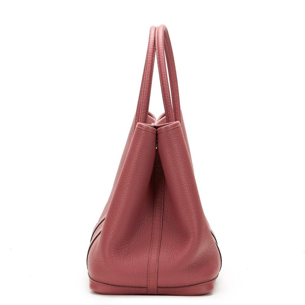 436228a74eea Hermès Bois De Rose Negonda Leather Garden Party 36cm