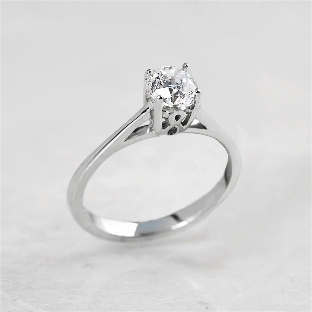 Diamond  18k White Gold 0.70ct Round Brilliant Cut Diamond Engagement Ring