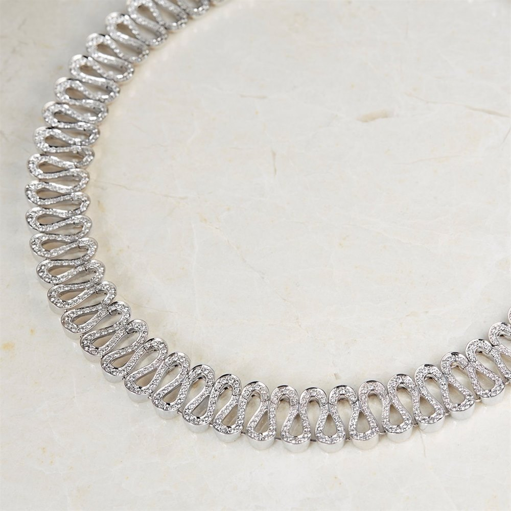 product necklace chain white link barrel gold wg boca raton mens