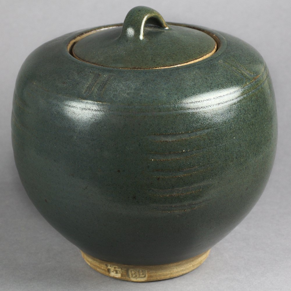 Bernard Leach Studio Pottery Lidded Jar 20th C.