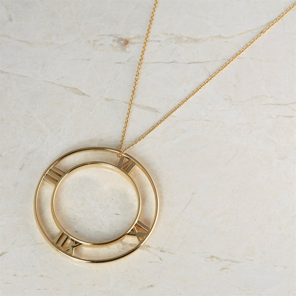 Tiffany & Co. 18k Yellow Gold Large Atlas Necklace