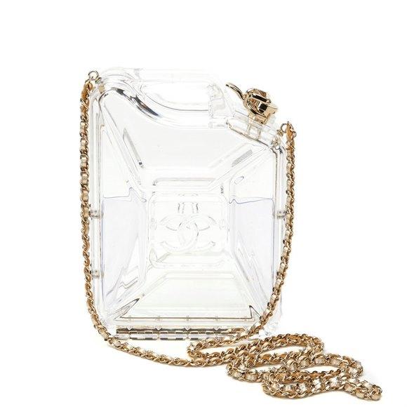 Chanel Clear Plexiglass Dubai by Night Gas Can Minaudiere
