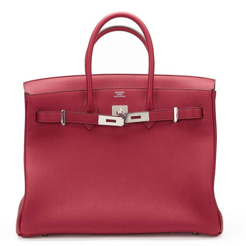 98eb33569f Hermès Rouge Grenat Togo Leather Birkin 35cm