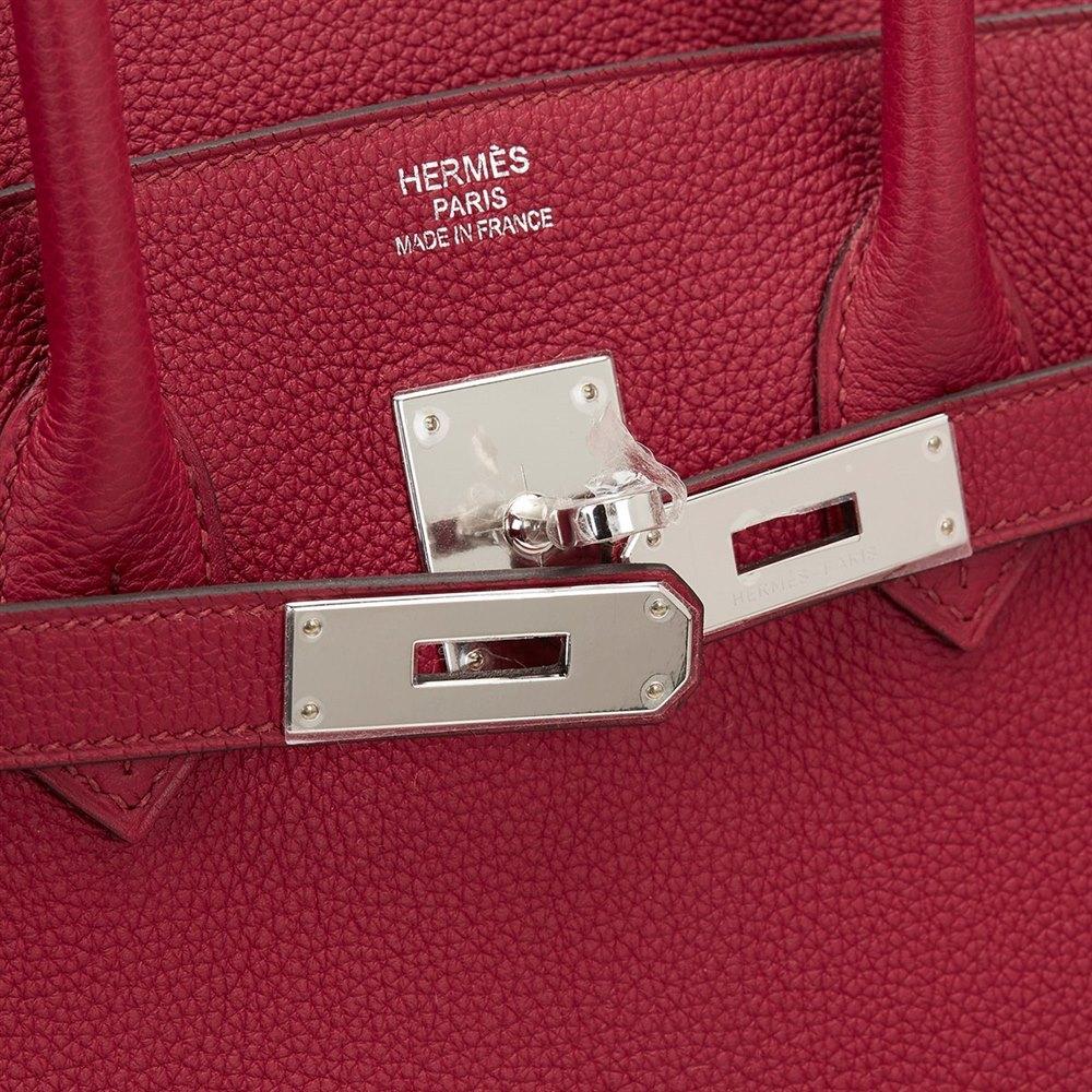 c025b4b4ccbf Hermès Rouge Grenat Togo Leather Birkin 35cm